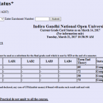 IGNOU Grade Card