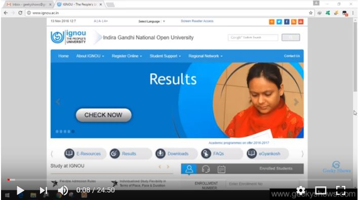 ignou youtube videos