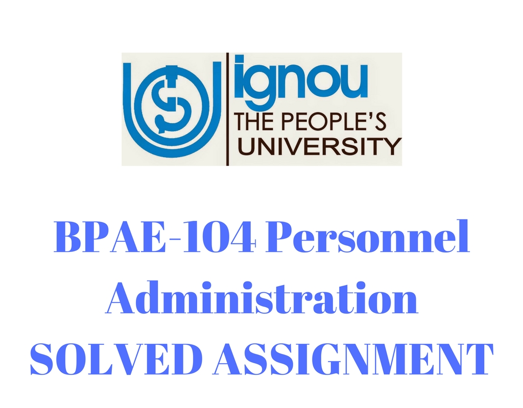 IGNOU B.A Psychology Solved Assignment