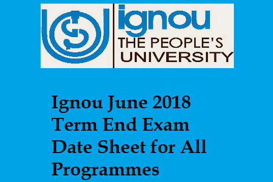 Registration for the IGNOU for July 2018 session