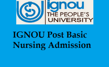IGNOU Post Basic Nursing Admission
