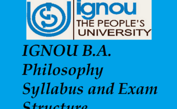 IGNOU B.A. Philosophy Syllabus and Exam Structure