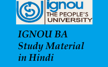 IGNOU BA Study Material in Hindi