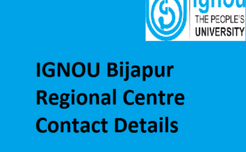 IGNOU Bijapur Regional Centre Contact Details