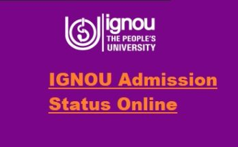 Ignou-admission-status-check-online