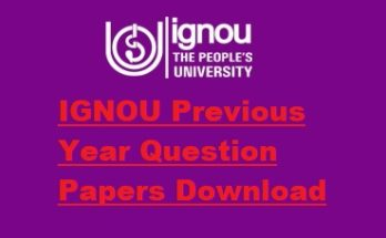 Ignou-previous-year-question-papers