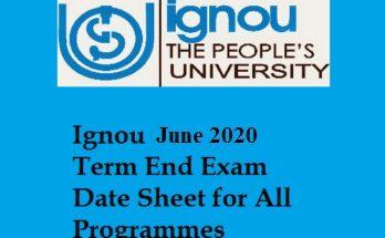 Date-sheet-of-IGNOU-TEE-June-2020