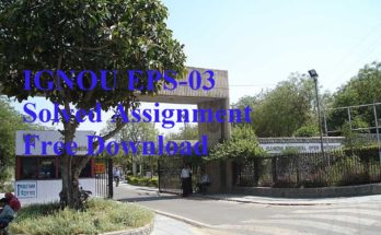 Ignou-eps-03-solved-assignment