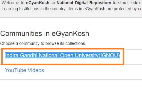 ignou-egyankosh