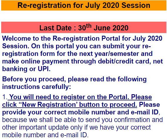 ignou-online-reregistration
