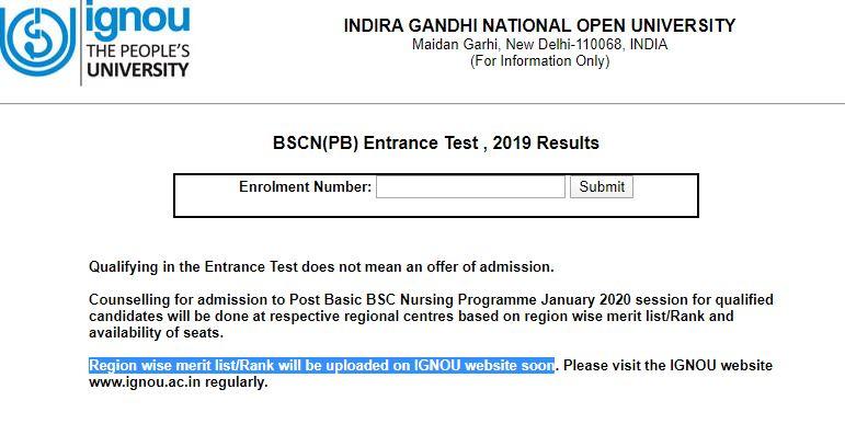 ignou-post-basic-bsc-nursing-entrance-result