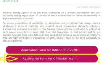 IGNOU-OPENMAT-XLVII-2020-apply-online
