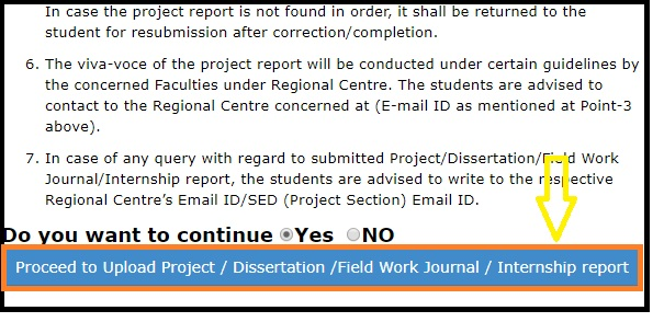 How to submit IGNOU Project Report, Dissertation,Field Work Journals, Internship Reports-Online