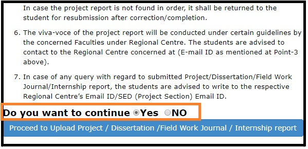 How to submit IGNOU Project Report, Dissertation,Field Work Journals, Internship Reports Online