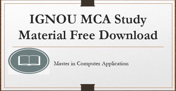 ignou-mca-study-material-free-download