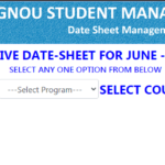 IGNOU TEE June 2021 Date sheet