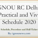 IGNOU-rc-Delhi-2-practical-schedule